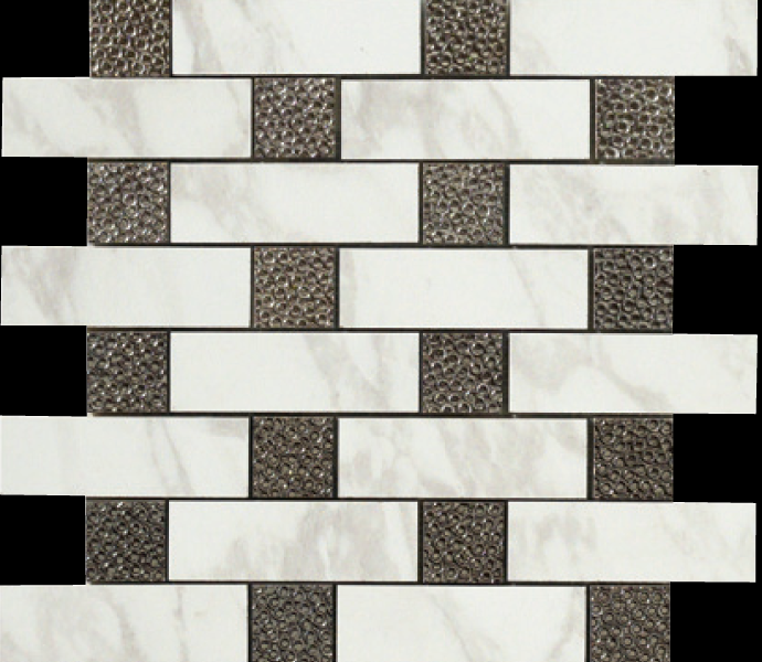 12.6×12.6 Brick Deco Mosaic Semi-Polished