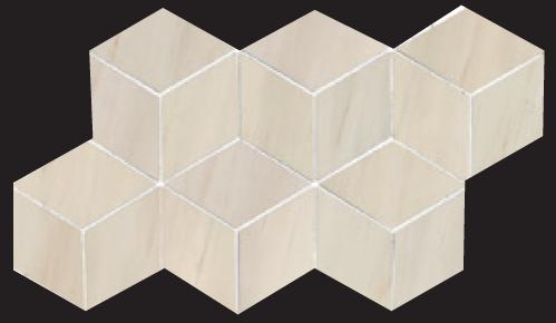 Beige 3D Hex Mosaic 7×12