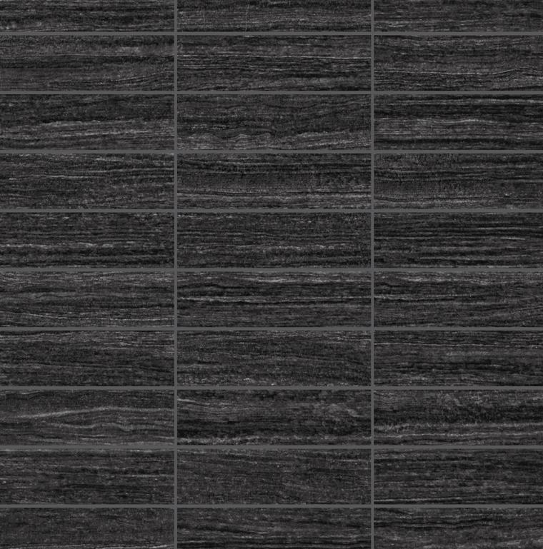 E-Stone Black Mosaic 1.25×4