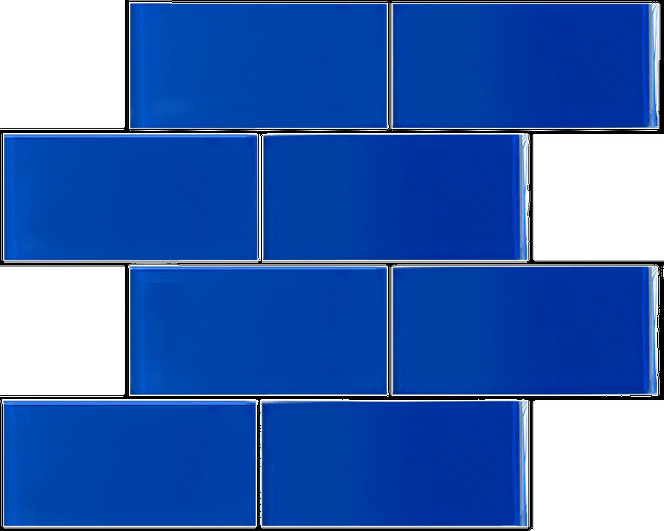 Crystal 3 x 6 Subway Tiles Caribbean Blue