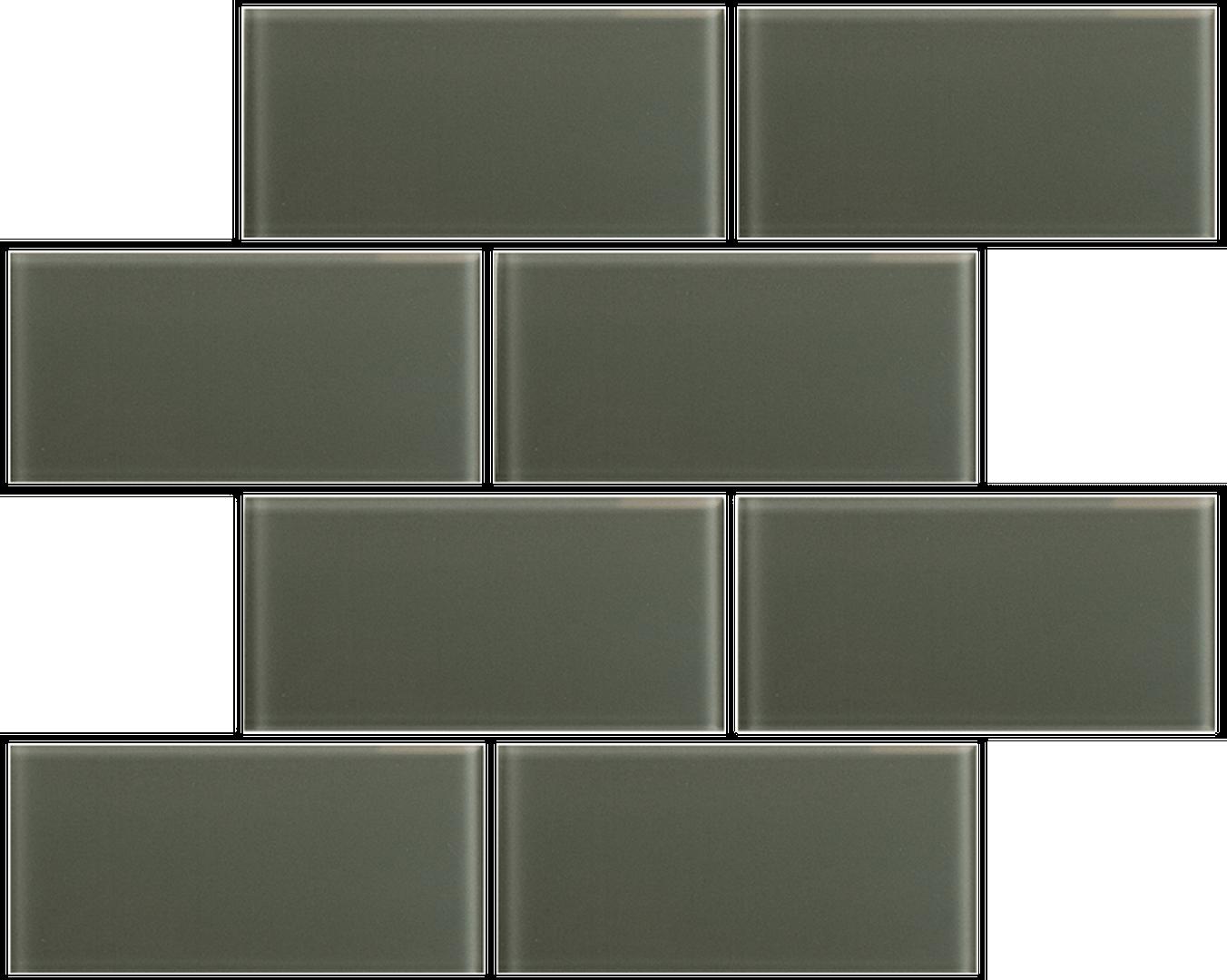Crystal 3 x 6 Subway Tiles Crocodile