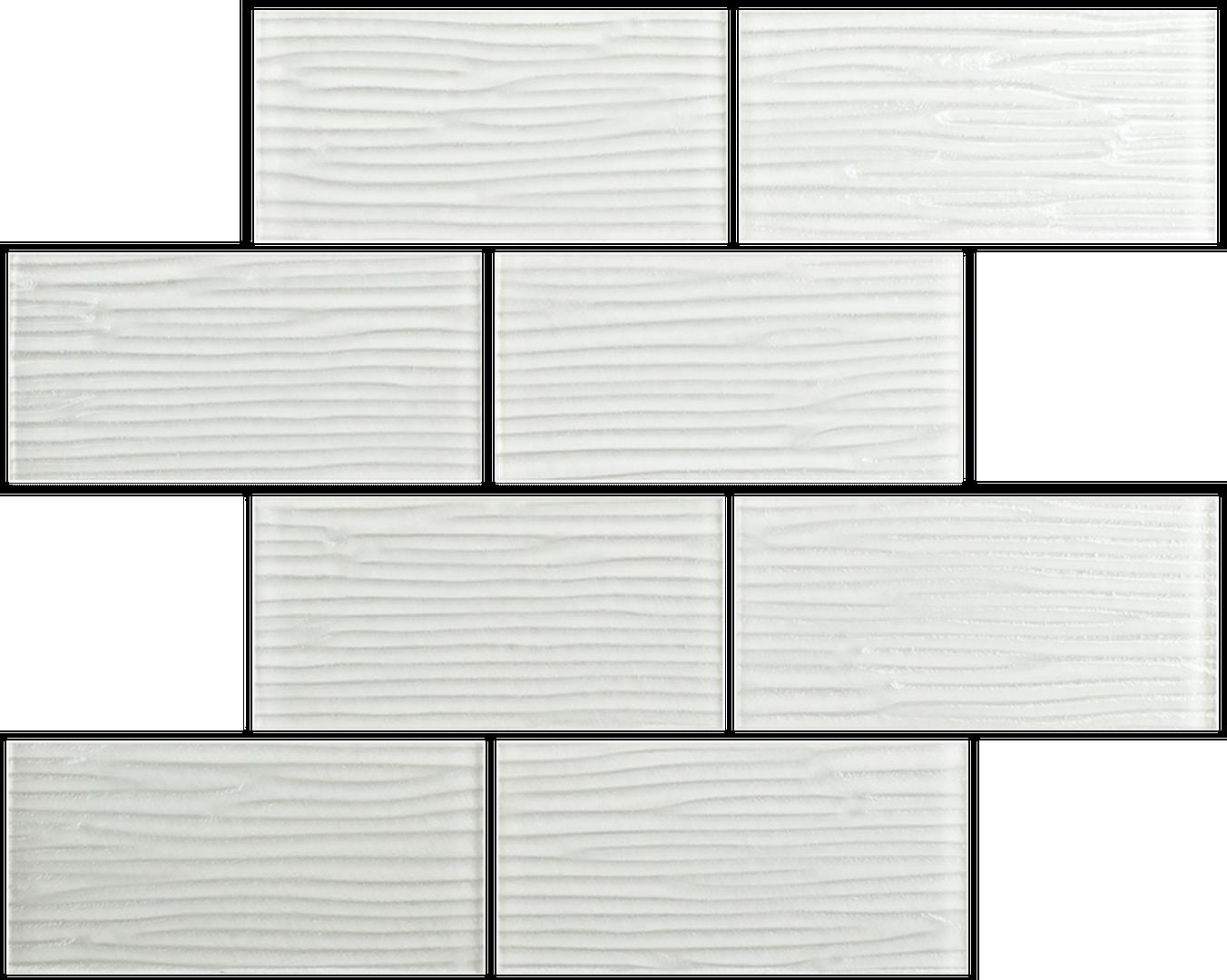 Crystal 3 x 6 Subway Tiles Custard River