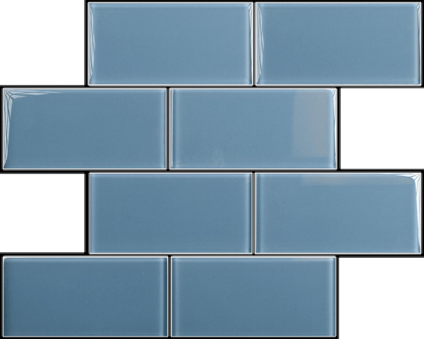 Crystal 3 x 6 Subway Tiles Downpour