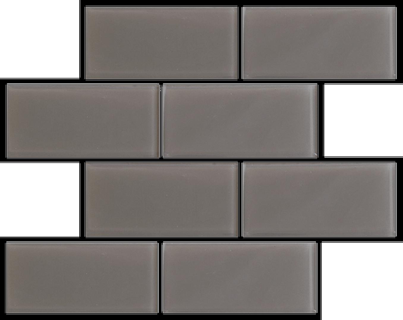 Crystal 3 x 6 Subway Tiles Gravel