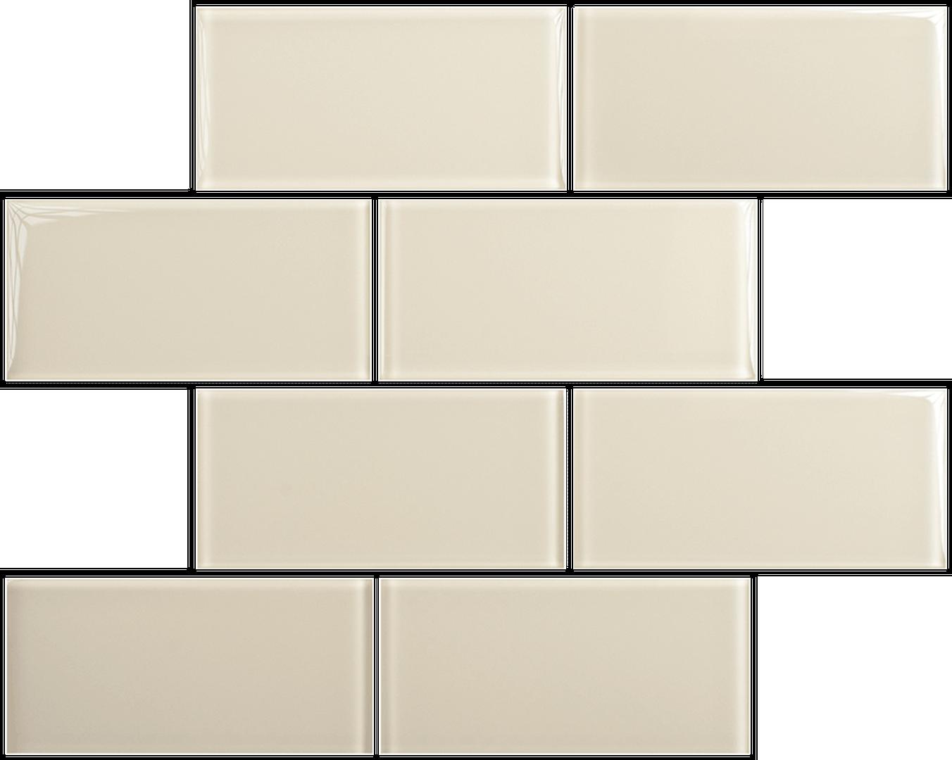 Crystal 3 x 6 Subway Tiles Ivory