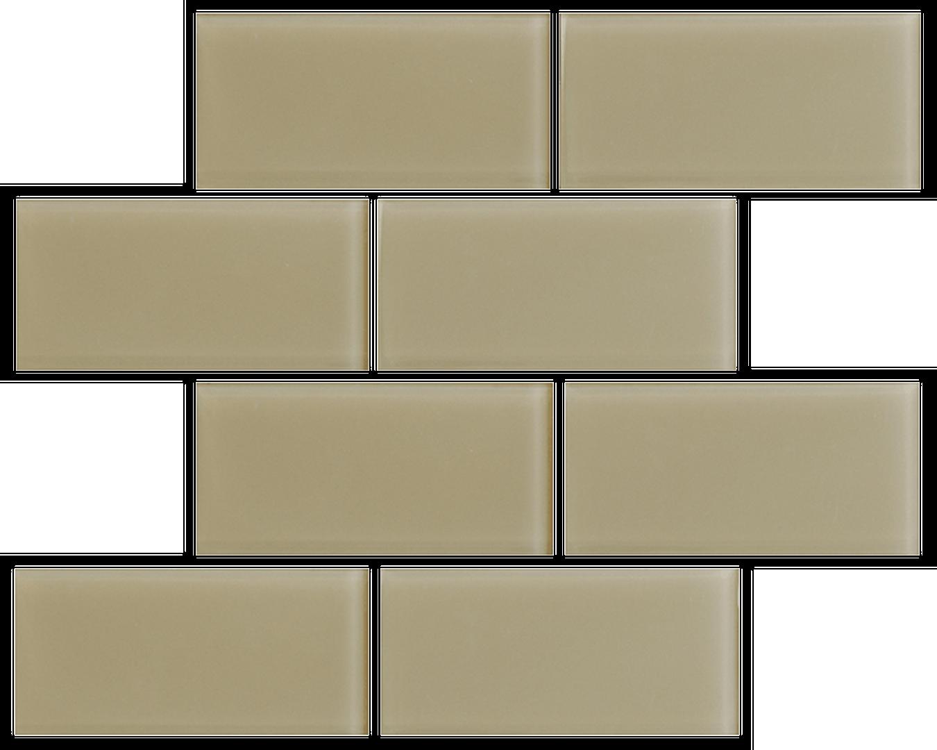 Crystal 3 x 6 Subway Tiles Sand Dollar