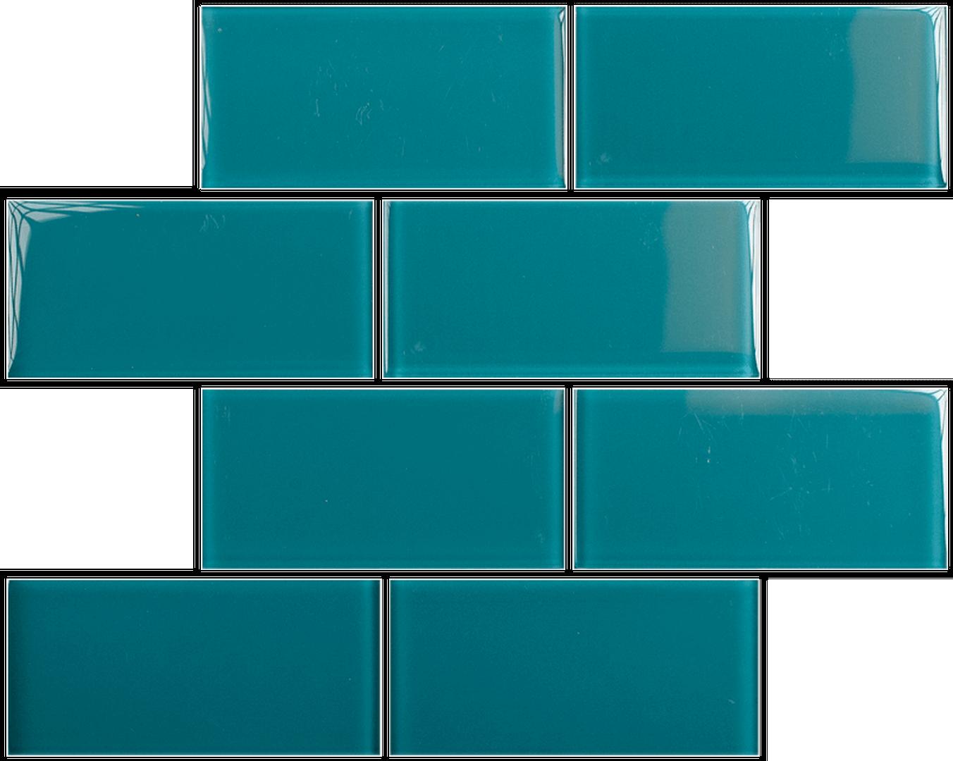 Crystal 3 x 6 Subway Tiles Teal - Ann Arbor Stone & Tile