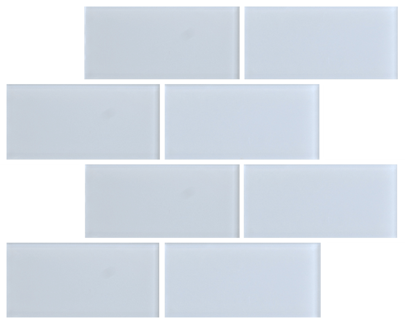 Crystal 3 x 6 Subway Tiles White