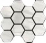 Bardiglio Bianco Polished Hexagon Mosaic 12 X 14 Sheet