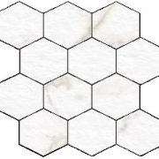 Blast Calacatta Hexagon Mosaic 12 X 12 Sheet