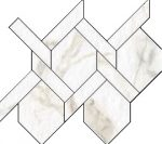 Blast Calacatta Intreccio Mosaic 11 X 12 Sheet (Net Coverage 0.45 Sq. Feet)