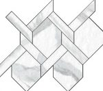 Blast Statuario Intreccio Mosaic 11 X 12 Sheet (Net Coverage 0.45 Sq. Feet)