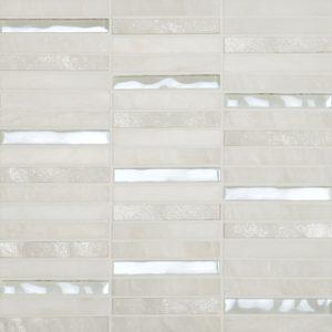 Cordoba White Linear 0.6 x 4 Mosaic 12 x 12 Sheet