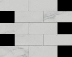 Marmi Statuario 2 X 6 Mosaic 12 X 12 Sheet