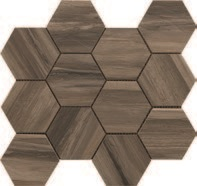 Paint Stone Brown Hexagon Mosaic 12 X 13 Sheet