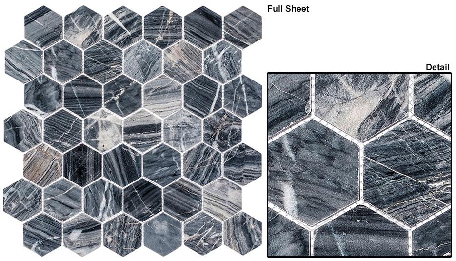 Salem Charcoal 2 Quot Hex Ann Arbor Stone Amp Tile